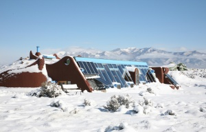 earthship in snow