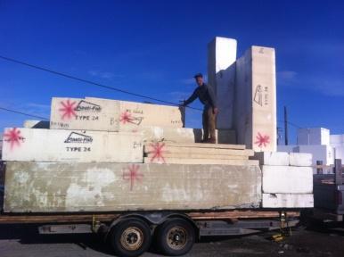 off-cuts of foam insulation